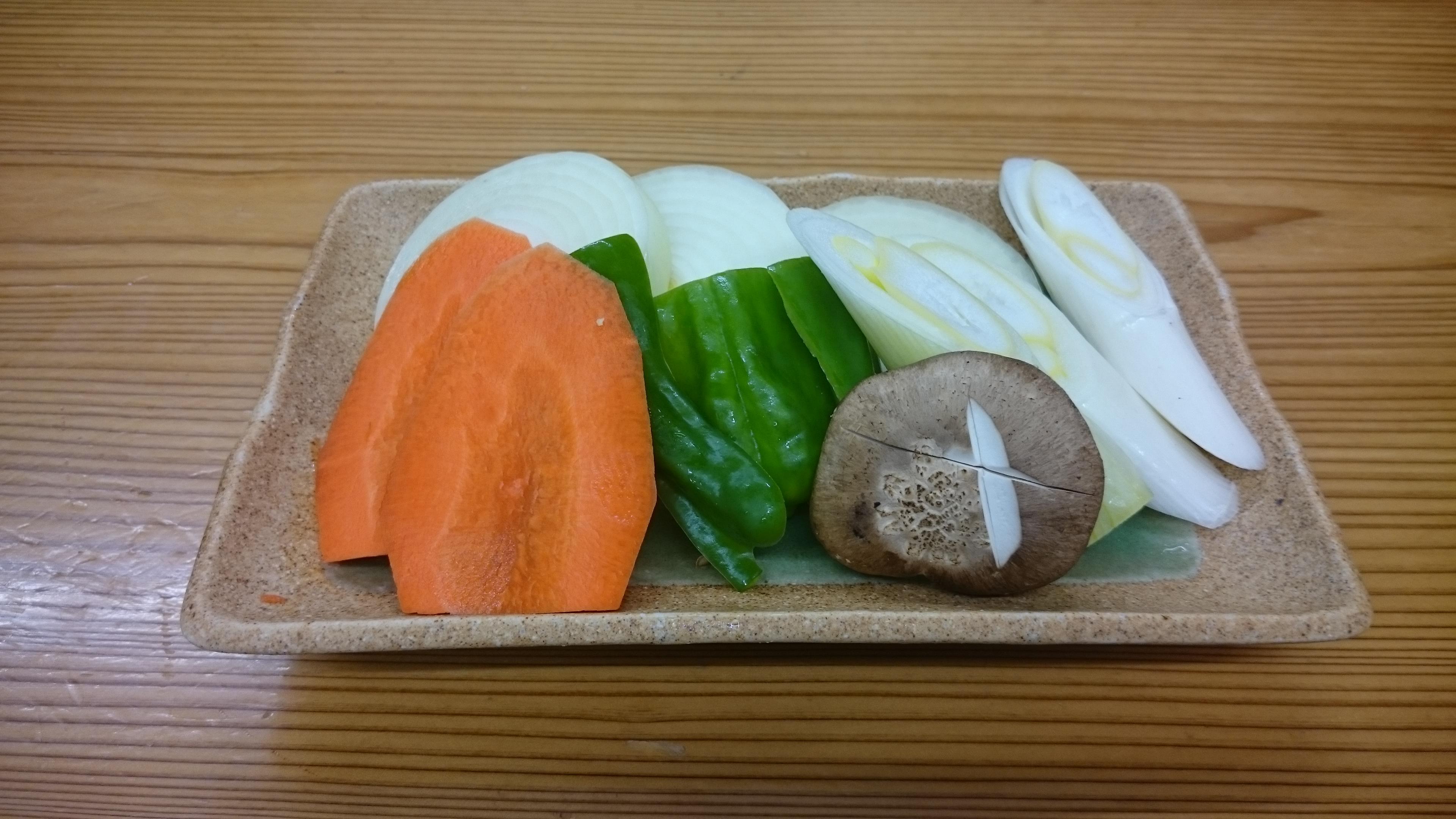 焼き野菜 530円