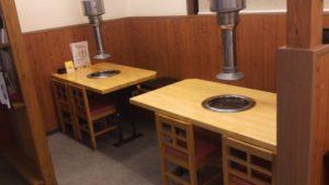 悠久のテーブル席